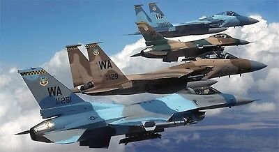 "WALL POSTER PRINT F-16 FIGHTING FALCON MILITARY AIR FORCE JET 24/""x 43/"" LARGE HD"