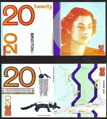 England / Brixton : £20 Local / Regional Banknote from their current Edition.UNC