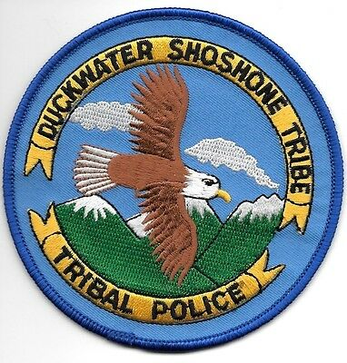 "*NEW*  Duckwater Shoshone Tribe, NV (4"" round) shoulder police patch (fire)"