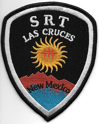 """Las Cruces - S.R.T., New Mexico (4"""" x 4.75"""" size) shoulder police patch (fire)"""