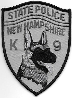 """*NEW*  New Hampshire State K-9 subd. (3.5"""" x 4.75"""") shoulder police patch (fire)"""