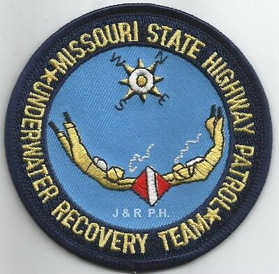 "Missouri Highway Patrol - Dive (3.5"" round size) shoulder police patch (fire)"