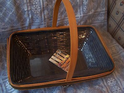 Longaberger Collectors Club 2000 SPRING MEADOW BASKET COMBO w/TIE ON Excellent!