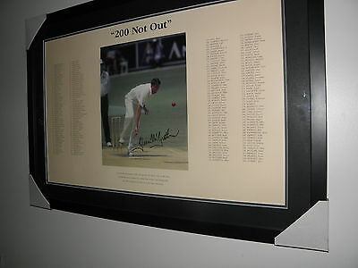 """GLENN  Mc GRATH """"200 NOT OUT""""SIGNED & FRAMED, WITH CERTIFICATE OF AUTHENTICITY"""