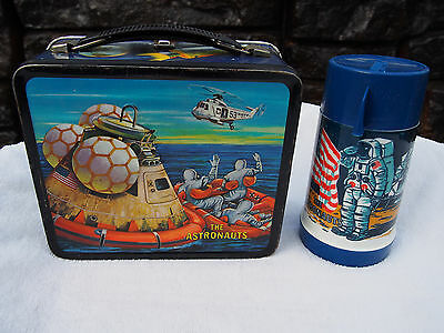 Vintage 1969 The Astronauts NASA Moon Metal Lunchbox With Thermos by ALADDIN
