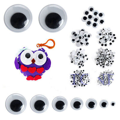 New 500PCS 6-20mm Wiggly Wobbly Googly Eyes Self-adhesive Scrapbooking Crafts