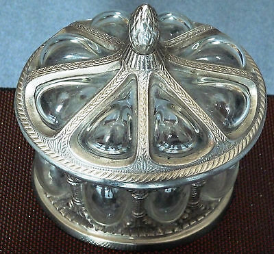 Candy box domed Glas Tin? sp. 19. Jh? fr. 20th Century? RARE very good ' c