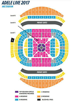 ADELE A RESERVE TICKETS (x2)  Sat March 11, 2017