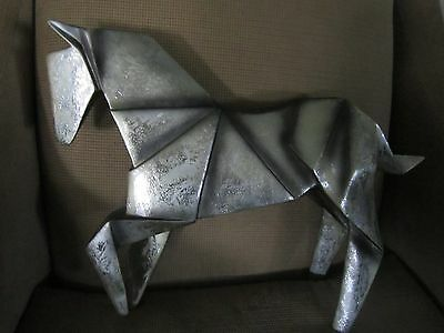Horse Statue Molded To Look Like Origami ~ Made Of Resin