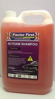 5L Professional Car Snow Foam Cleaner With Wax Wash Shampoo For Valeting