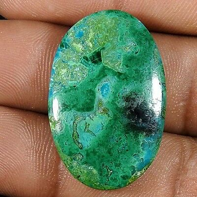 25.10Cts 100% NATURAL GREEN CHRYSOCOLLA OVAL CABOCHON UNTREATED AAA GEMSTONE