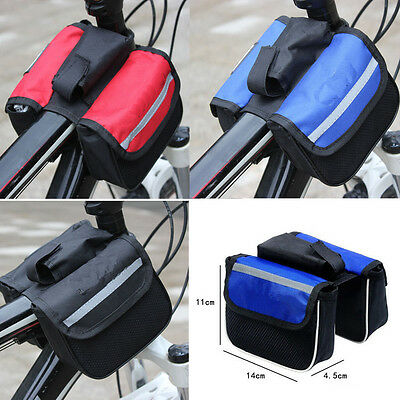 New Bike Bicycle Cycling Mountain Frame Front Tube Pannier Saddle Bag Tube Pouch