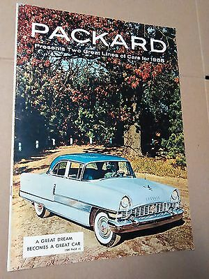 1955 Packard sales Brochure - Catalog, Huge with 19 color pages