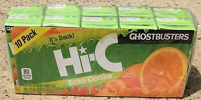 NEW SEALED Ghostbusters Hi-C Ecto Cooler 10 Pack/6oz Juice Box LIMITED EDITION
