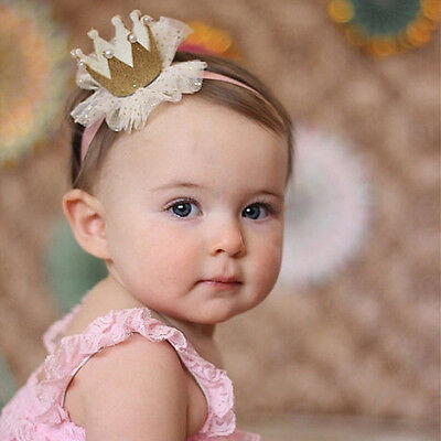 Cute Kids Baby Girl Toddler Lace Crown Hair Band Headwear Headband Accessories