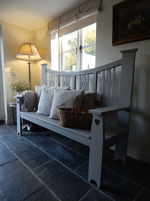 Antique painted bench