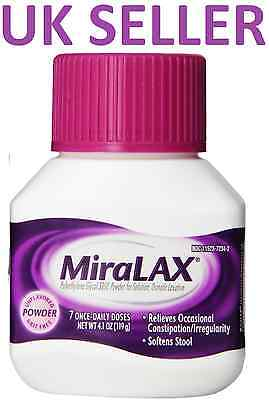 *UK SELLER* MiraLAX Powder Laxative for Constipation/Irregularity/Drink/Relief