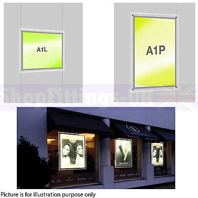 New A1 LED Double Side Window Light Pocket Light Panel Estate Agent Display