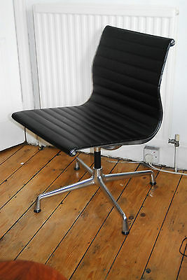 Genuine Eames Ea 105 Chair By Vitra - Black Leather London Collection