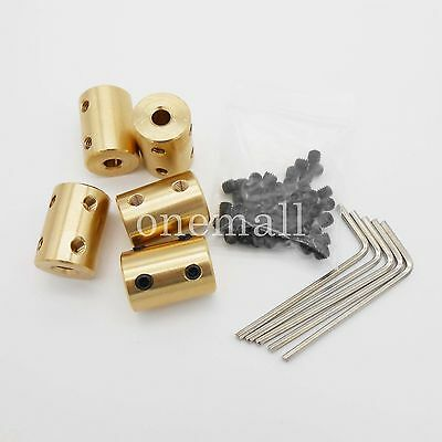 5PCS 5 TO 5MM  brass Shaft Motor rigid Coupling Coupler  length 22mm dia.16mm