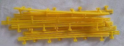 Micro Scalextric Plastic Yellow Barriers L7559 23.5Cm Long  X 12