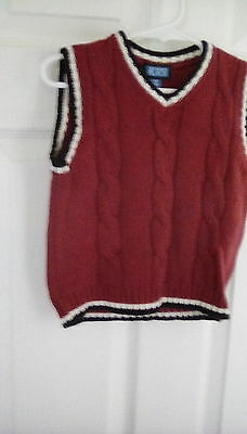 Children's Place Red Holiday Sweater Vest Size 24 Months