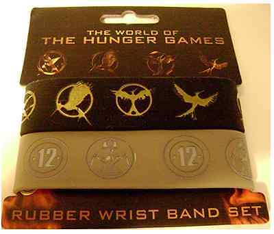 The World of The Hunger Games Rubber Wrist Band Set (Set of 2)