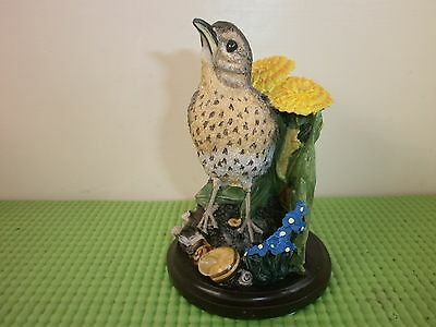 Country Birds Collection Bird Figurine, Song Thrush, Andy Pearce, 2002