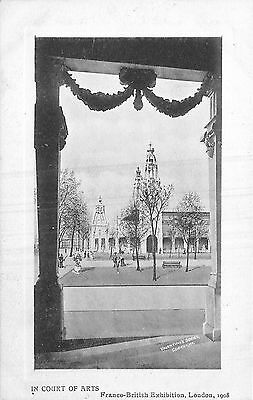 POSTCARD   EXHIBITIONS  1908  London  Franco British    In  Court of  Arts