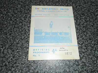HARTLEPOOLS UNITED  v  HALIFAX TOWN  1964/5  DIVISION 4 ~ OCTOBER 24th FREE POST