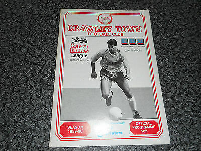 CRAWLEY TOWN  v  STAINES TOWN  1989/90 F.A.CUP 1st QUALIFYING ROUND ~ SEPT 16th