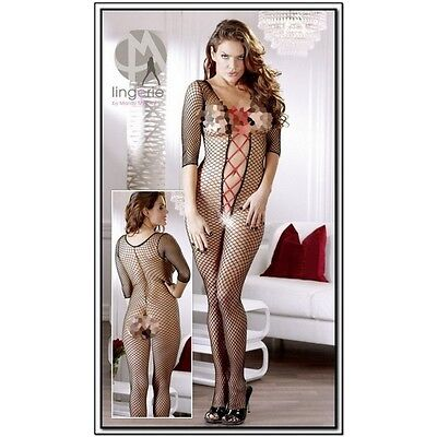 Catsuit-Calza Body Donna Cavallo Aperto-Tuta Rete-Body Stocking 25505201101