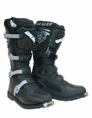 Wulfsport Trackstar Motorcross MX Boot Black  Quad Dirtbike SIZE 9