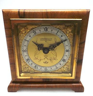 Beautiful Elliott Rosewood 8Day Mantel Clock Platform Escapement Carrington & co