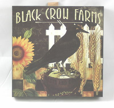 Blossom Bucket Sign Black Crow Farms w/ Crow, Fence & Sunflower
