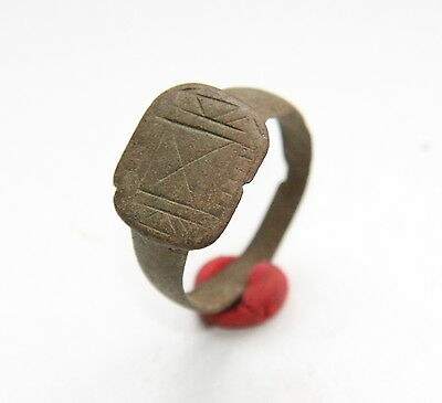 Medieval Bronze Ornament Finger Ring (NOW)