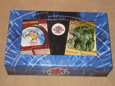 Lot of 105 Bakugan Cards, 37 are Magnetic Metal,  Battle Brawlers Game with Box