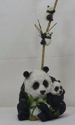 Lovely  Panda with Babies Bamboo Planter