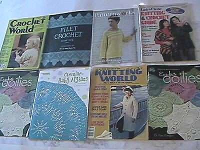Vintage Lot of 7 Assorted Crochet Magazines Patterns - FREE PRIORITY SHIPPING!!