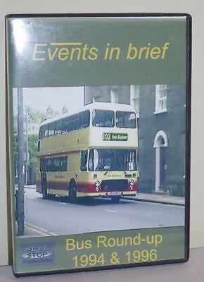 Events In Brief - Bus Round Up 1994 & 1995 - Eastern Counties Manchester Bus Dvd