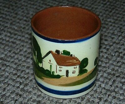 Antique Watcombe Pottery Moto Ware Pot Country Cottage