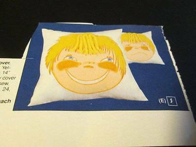 Tri-Chem Sad/Glad Pillow Cover #7748- 14 Inches Square-To Paint/Embroider