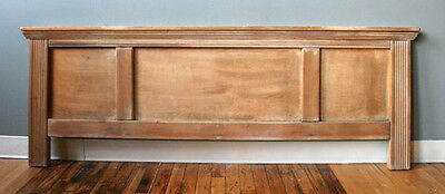 Vintage Mid Century Solid Wood Queen Size Bed Foot board Only