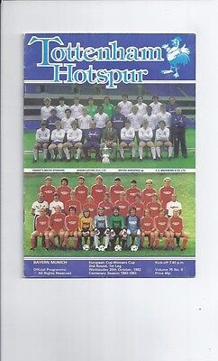 Tottenham Hotspur v Bayern Munich Cup Winners Cup 1982/83 20th October