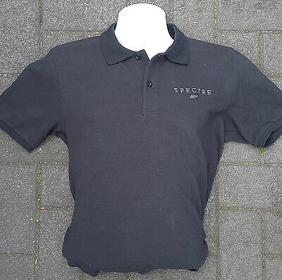 JAMES BOND 007 SPECTRE POLO SHIRT Mens Size S, L, XL Black