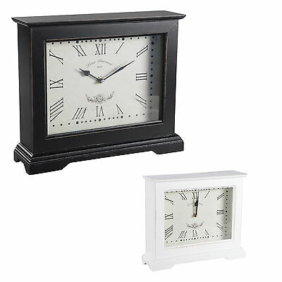Table clock YAAT Fireplace Wood Floor Shabby Chic Vintage Decode Decoration