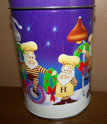 Hershey Kisses 1990s Christmas Elves HOLIDAY CLASSICS #5 Tin Container Canister