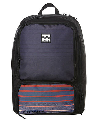 New Billabong 'juggernaught' Boys Backpack School Bag + Lunch Box 29L Red Black