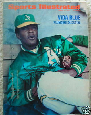 1972 SI signed by Vida Blue