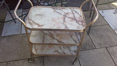 Vintage Hostess Trolley, with Kitsch Marble Design